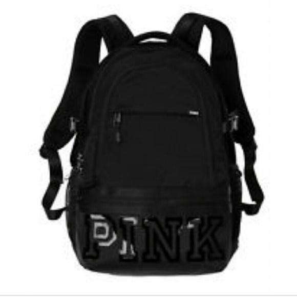 Black pink backpack NWT